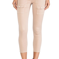 Joie So Real Cropped Twill Pants in Tan