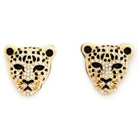 Rhinestone Panther Stud Earring: Charlotte Russe