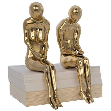 Couple Statue, Large, Brass