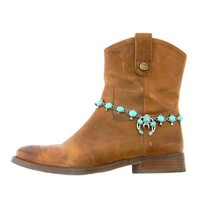 Boot Bling Turquoise Crescent Boho Boot Chain