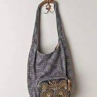 Frederica Hobo Bag by Jasper & Jeera Blue Motif One Size Bags