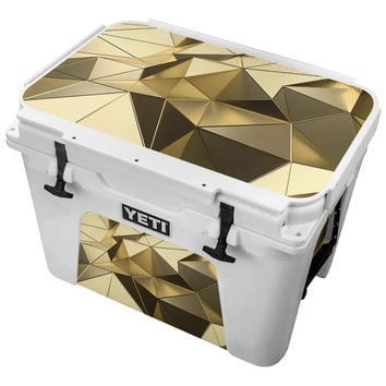 Gold Metallic Triangles Skin for the Yeti Tundra Cooler