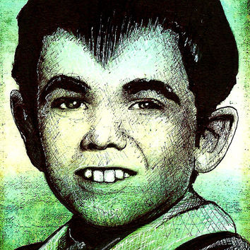 "Print 11x17"" - Eddie Munster - Classic Vintage Dark Art Monster Pop Art Lowbrow The Munsters Frankenstein Horror Comedy TV Gothic Cute Bats"
