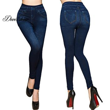 Leggings Faux Denim Jeans