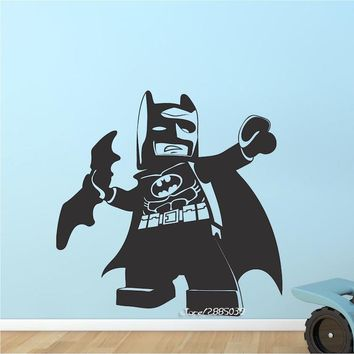 Batman Dark Knight gift Christmas Mini Cute Batman Superhero Wall Stickers E-co Friendly Vinyl Wall Decals Hot Hero Kids Children's Bedroom Decal Picture  SA758 AT_71_6