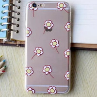 Hollow Out Yellow Floral iPhone 5se 5s 6 6s Plus Case Cover + Nice Gift Box 364