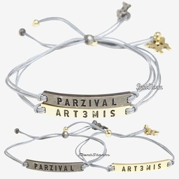 Licensed cool Ready Player One Movie Parzival & Art3mis BFF Best Friends Cord Bracelet Set New