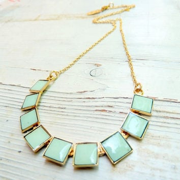 Formica Squares delicate necklace