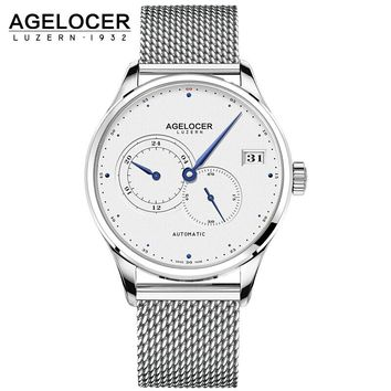 AGELOCER Swiss Made Men's Automatic Unique Hands Sport Watch