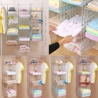 2/3/4-Layer Hanging Wardrobe Storage Rack House Hanging Clothes Holder Rack Organizer