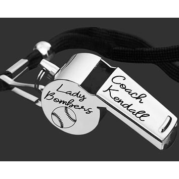 Softball Coach Whistle | Personalized Whistle