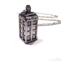 Tardis Police Box Necklace