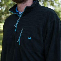 FieldTec Dune Pullover in Black with Chill Blue by Southern Marsh