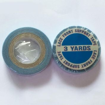 1 roll 1 cm*3 yards super hair Blue tape double-sided adhesive tape for hair extension/lace wig/toupee