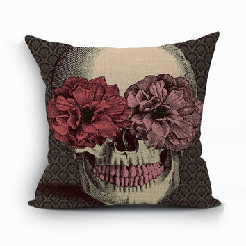 Halloween mexican sugar skull cushion(No inner)decorative throw pillow sofa home decor