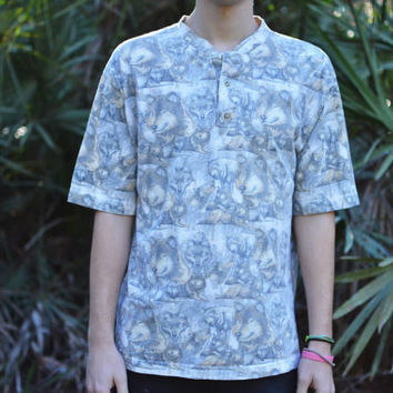 Wolf All-Over-Print Tshirt