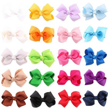 10pcs/lot Fashion Newborn Bows Hair Clip Boutique Hair Pin Flower Grosgrain Ribbon Hair Bow Hairpins Kids Headwear Accessories