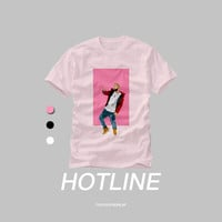 Drake Hotline Bling Dancing Illustration Crewneck T Shirt