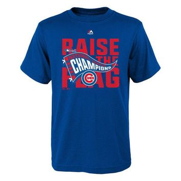 Youth Chicago Cubs Majestic Royal 2016 National League Champions Locker Room T-Shirt
