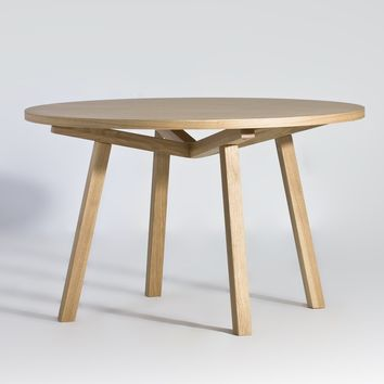 Katey Round Dining Table - Wood Top | GFURN