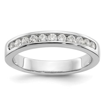 Platinum AA Diamond Channel Anniversary Band Ring