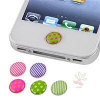 For Apple The new iPad 6 Pieces Home Button Sticker , Dot / Strip