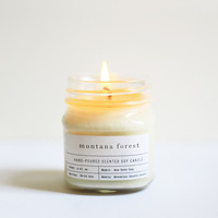 Montana Forest Mason Jar Candle