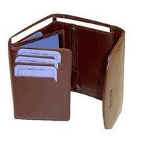 New Womens High End Multipurpose Leather Brown Wallet