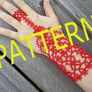 "Diy-kit-PDF Tatting pattern -pattern Slave Bracelet Ring ""Lakshmi""-instant download-shuttle tatting -tutorial PDF-useful gift for creativity"