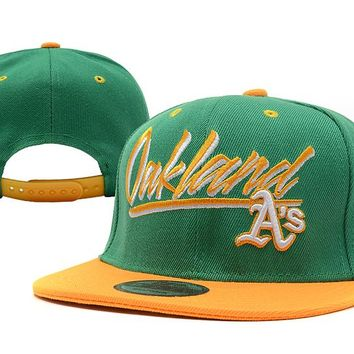 Oakland Athletics New Era MLB 9FIFTY Cap Green-Yellow