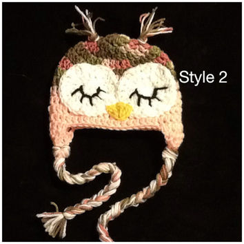 Sleeping Owls - crochet - any size - made to order