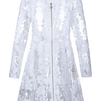 Clear PU Floral Lace Coat - MONCLER