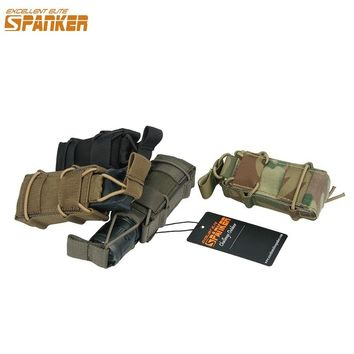 EXCELLENT ELITE SPANKER Military Pistol Holsters Tactical Ammo Clip Magazine Pouches Outdoor Equipment Hunting Bags Accessories