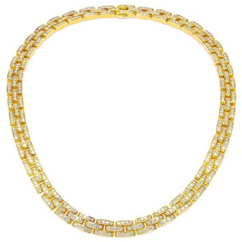 Cartier 18k Yellow Gold and Diamond Panther Necklace