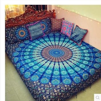 Bohemia Mandala Tapestry Blanket Printed Wall Hanging Tapestries India Biki Home Decor Bedsheet Sofa Cover Blanket148x200cm