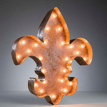 Vintage Marquee Lights - Ready to Ship - Fleur de lis