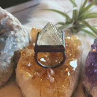 Crystal Princess Quartz Pyramid Ring
