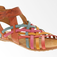 Women's Genuine Leather Huaraches Mexican Sandals Strap Zipper Pink Red Yellow
