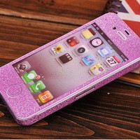 Cool Shiny Rhinestone Full Body Cover Skin Sticker Shield For IPhone
