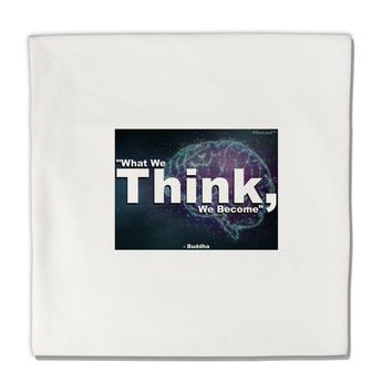 "What We Think Buddha Micro Fleece 14""x14"" Pillow Sham"