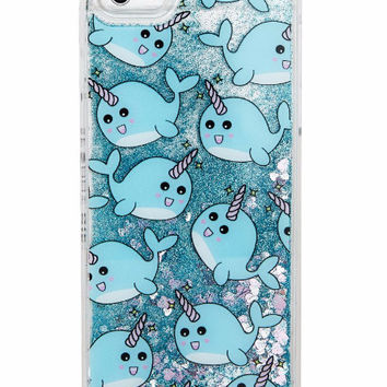 Narwhal Dynamic Quicksand Glitter Case for iPhone