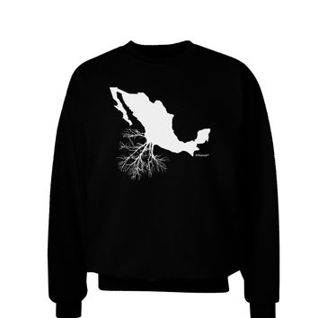 Mexican Roots Design Adult Dark Sweatshirt by TooLoud