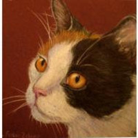 Custom Pet Portrait 35 x 5 Cat Portrait from Photos by robinzebley
