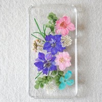 Lewire Violets Handmade Real Pressed Flowers Phone Case For iPhone 5/5S 072807