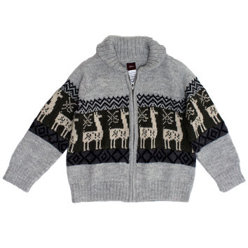 Las Alpacas Zip Cardigan
