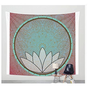 Lotus Mandala Tapestry Wall Hanging Art Meditation Yoga Buddha Hippie