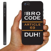 iPhone 5 Case - How I Met Your Mother - The Bro Code - Black Phone Case