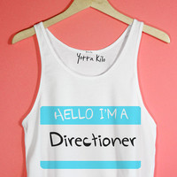 Hello I'm A Directioner Crop Tank Top | Yotta Kilo