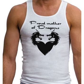 Proud Mother of Dragons Mens Ribbed Tank Top
