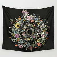 Circle of Life Dark Wall Tapestry by anipani